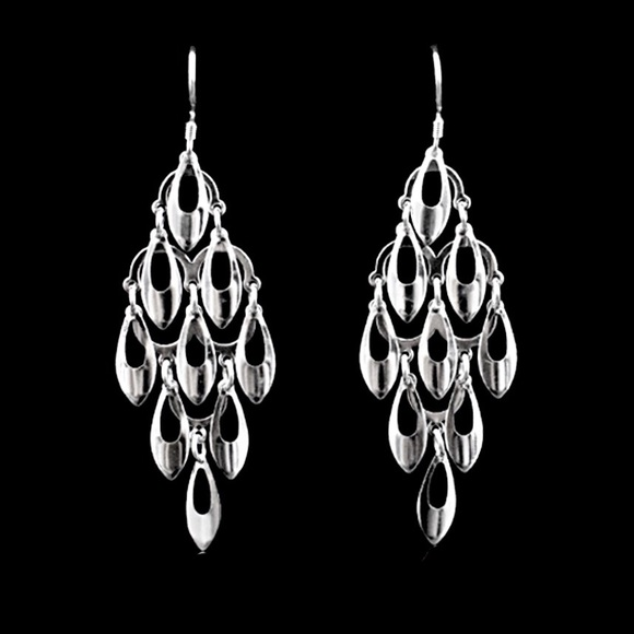 d257f61b7 Jewelry | 925 Silver Open Oval Tassel Earrings | Poshmark